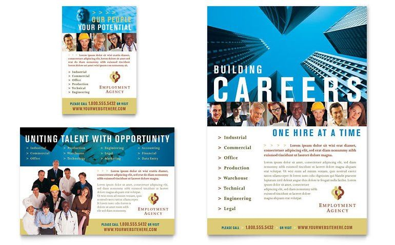 Employment Agency & Jobs Fair Flyer & Ad Template - Word & Publisher
