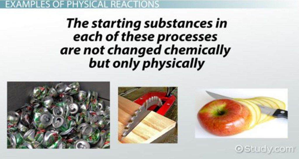 Physical Reaction: Definition & Examples - Video & Lesson ...
