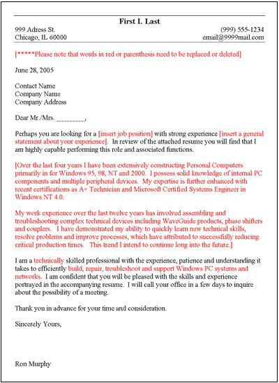 general structure of the cover letter. general resume cover letter ...