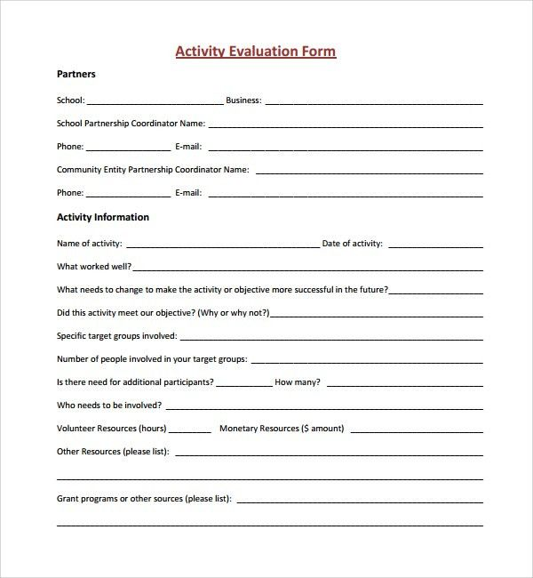 Sample General Evaluation Template. 17 Job Performance Evaluation ...