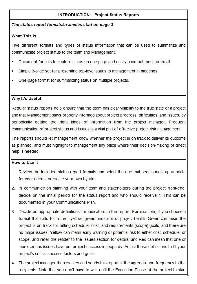 Project Template – 19+ Free Word, PDF, PPT Documents Download ...