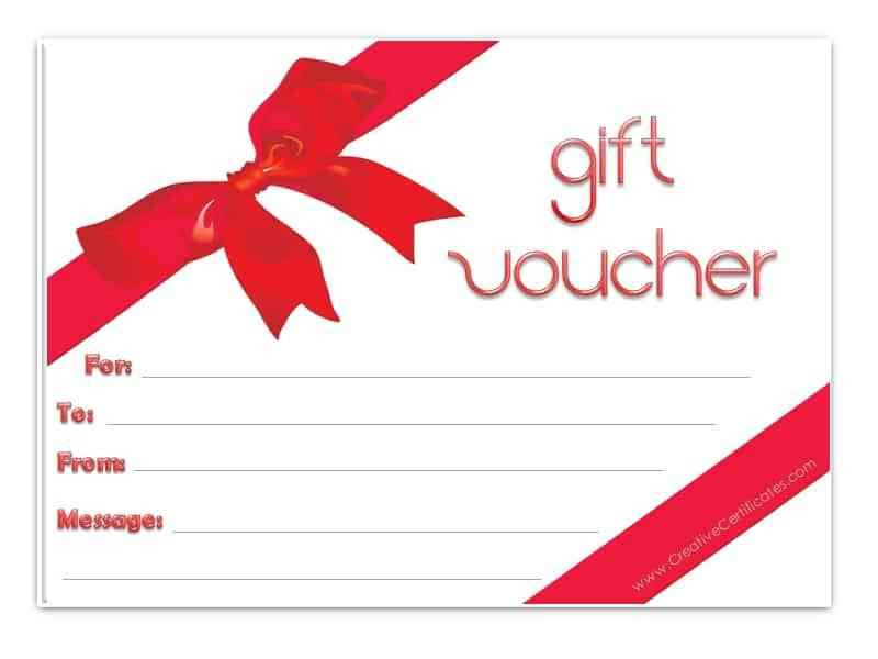 gift coupon template