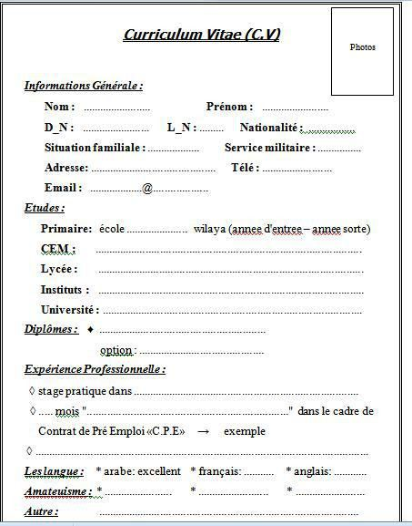 Europass Cv Template French | Cover Letter Visa Application Germany
