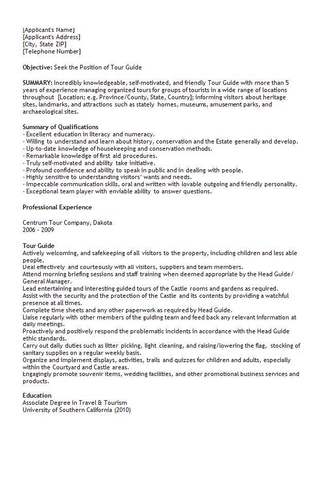 tour guide resume resume cv cover letter. tour guide resume resume ...