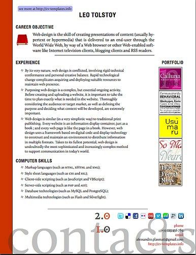 2.0 Web Designer LaTeX CV Template   Most of the links you f…   Flickr