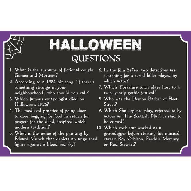 Pub Quiz Free Printable - Halloween | Talking Tables