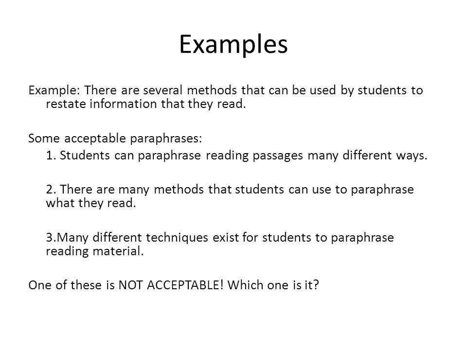 Paraphrasing What is it?. What is paraphrasing Paraphrasing is ...