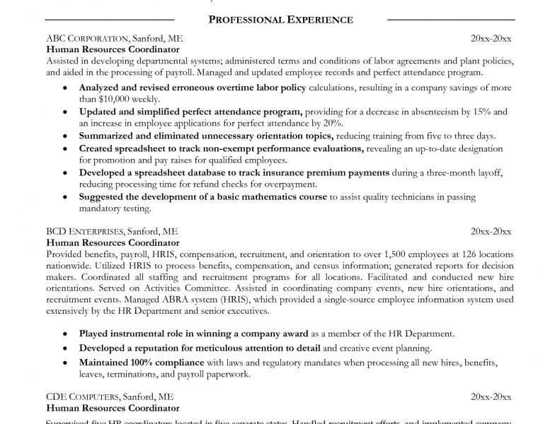Merry Hr Resume Objective 12 Human Resources For - Resume Example