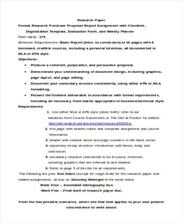 Purchase Proposal Templates - 7+ Free Word, PDF Format Download ...