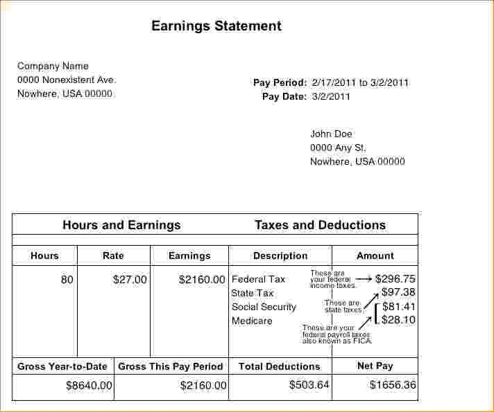 blank pay stub template pdf
