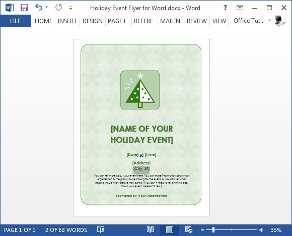 Free Holiday Flyer Template For Word