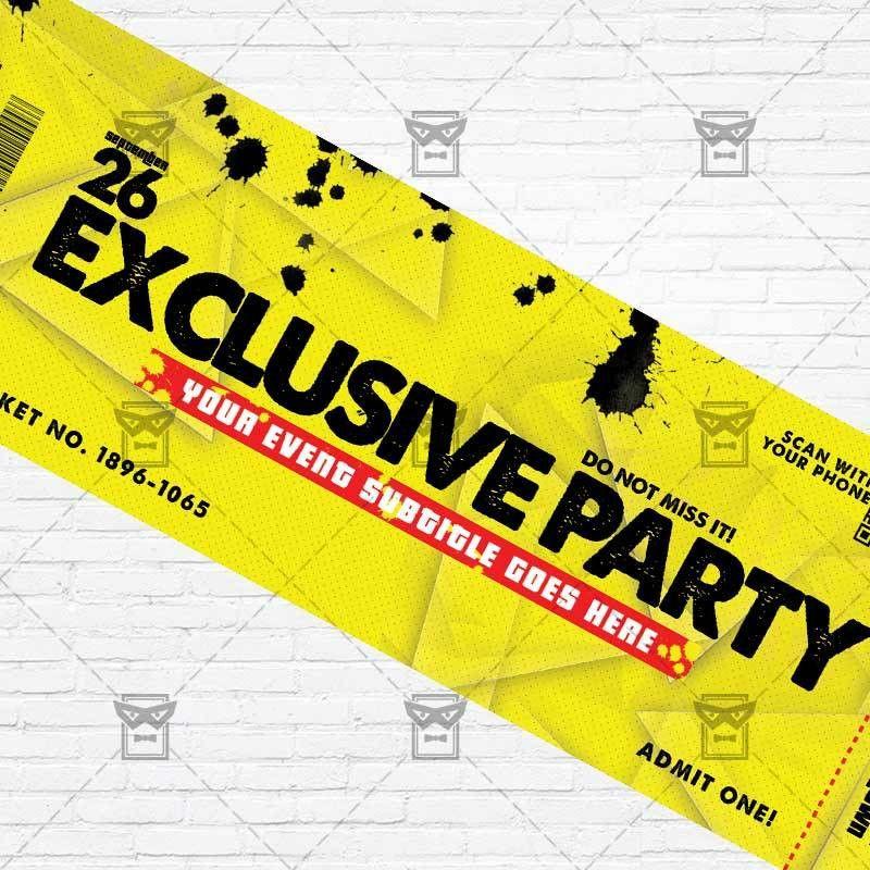 Exclusive Party – Premium PSD Ticket Template | ExclsiveFlyer ...