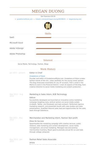 Editor In Chief Resume samples - VisualCV resume samples database