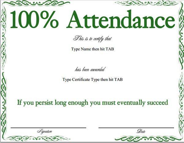 Certificate of Attendance, Format of Certificate of Attendance ...