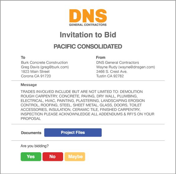 Construction Invitation To Bid Template | almsignatureevents.com