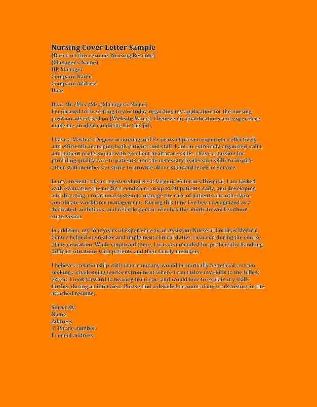 5+ registered nurse cover letter samples | list of reference