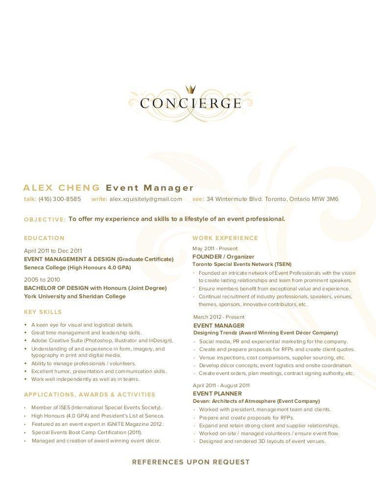 Tremendous Concierge Resume 8 Concierge CV Example - Resume Example