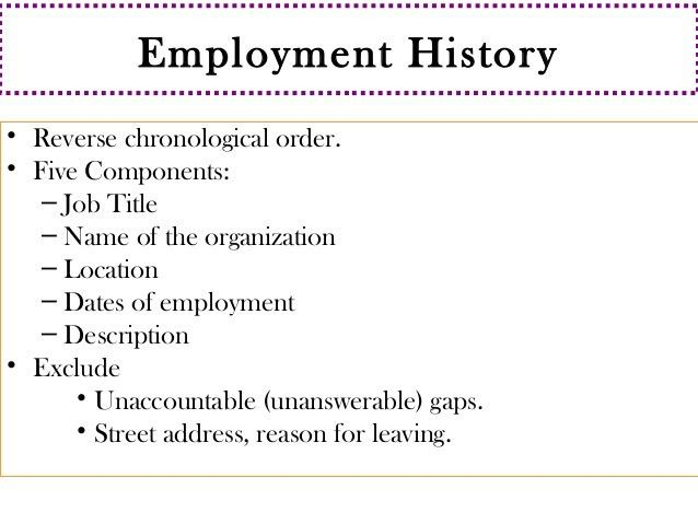resume employment history examples resume writing employment