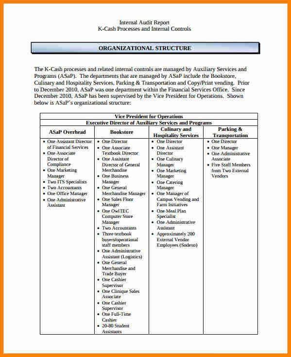 6+ internal audit report template | budget template