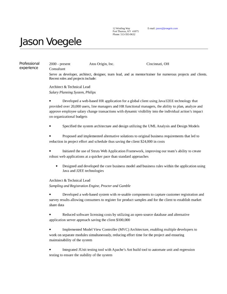 Executive Architect Resume Template
