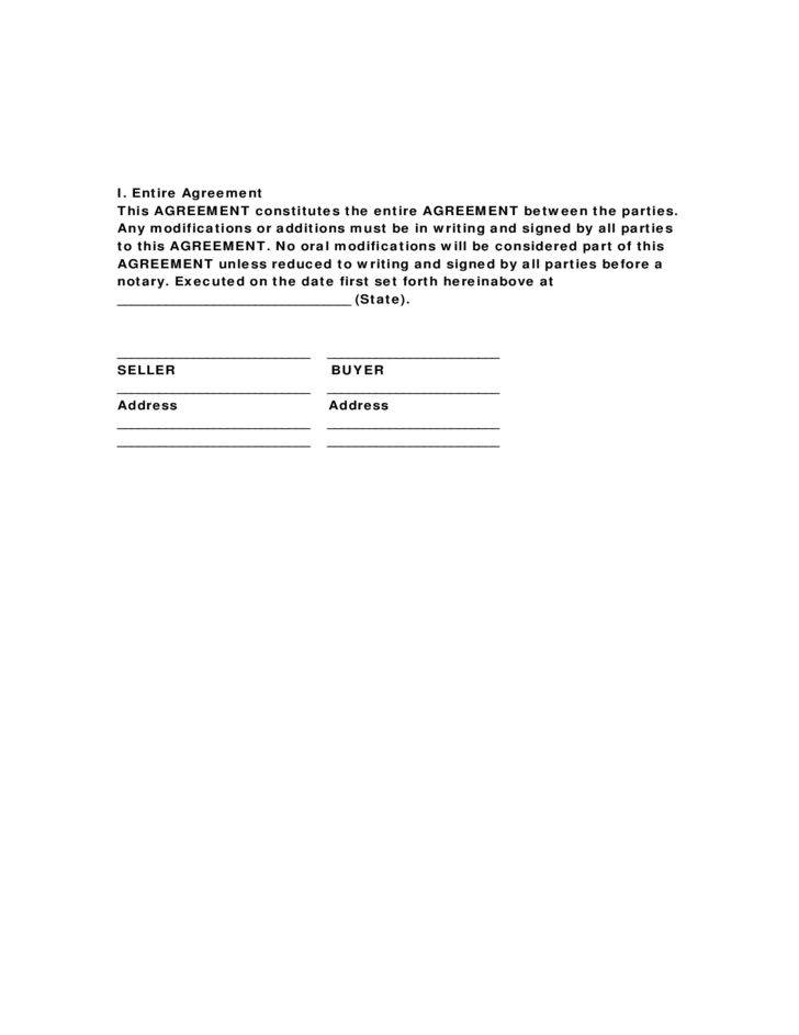 Horse Bill of Sale Form Sample Free Download