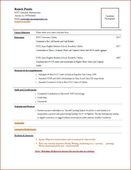 I have my TCS interview next week. Can anyone post a sample resume ...