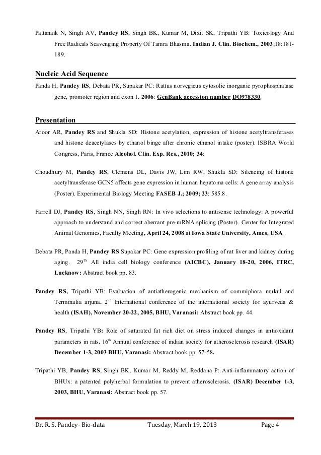 Dr. Ravi S Pandey-Resume for Assistant Professor/ Research Scientist …