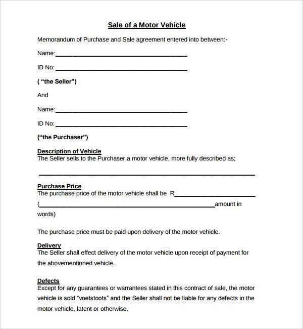 Auto Purchase Agreement Letter Samples : Vlcpeque