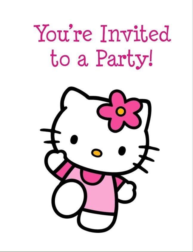 Hello Kitty FREE Printable Birthday Party Invitation Personalized ...