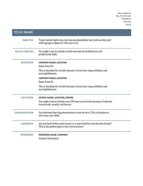 Download Basic Resume Template | haadyaooverbayresort.com
