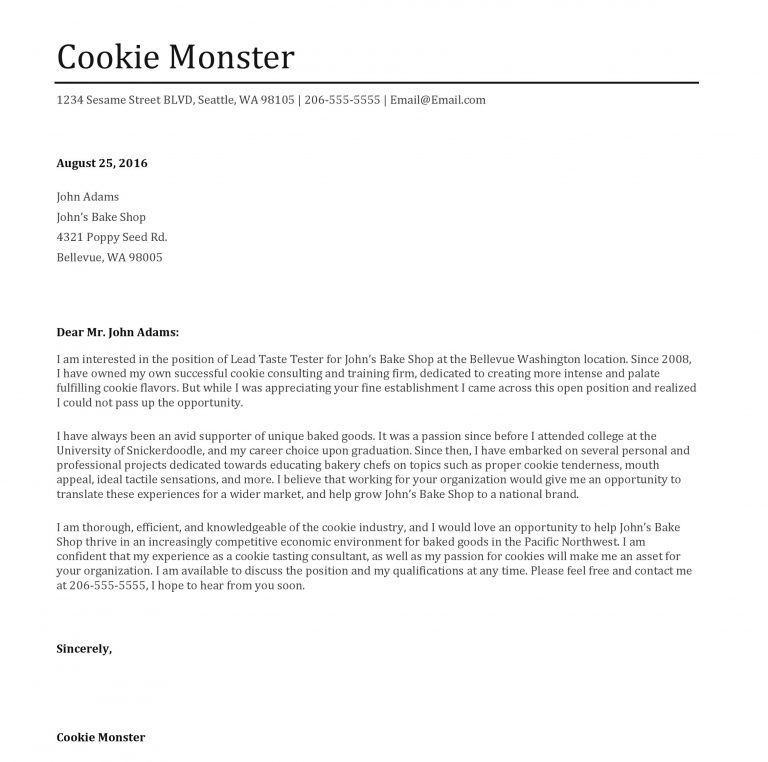 Interesting Inspiration Monster Cover Letter 10 Basics - CV Resume ...