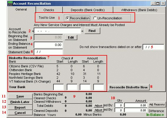 NEMRC | General Ledger - Account Reconciliation
