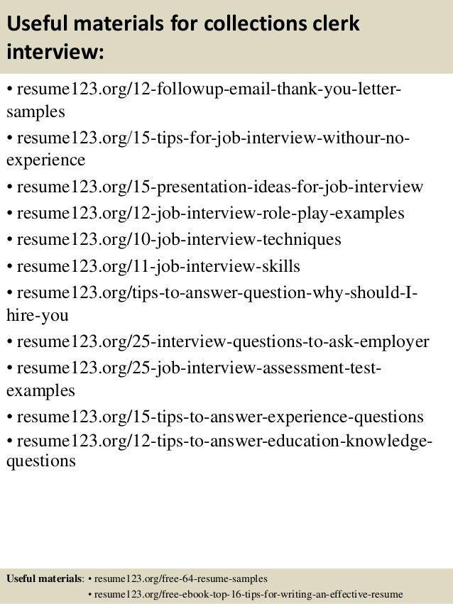 collection representative sample resume collection representative ...