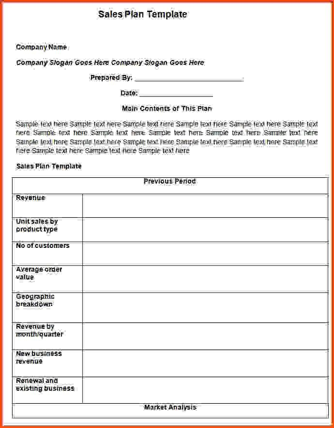 Sales Plan Template.sales Business Plan Checklist 800.jpg ...