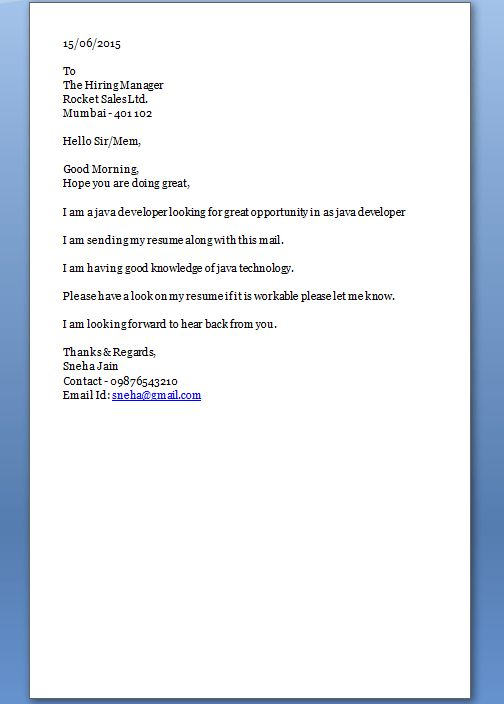 How To Open A Cover Letter - My Document Blog