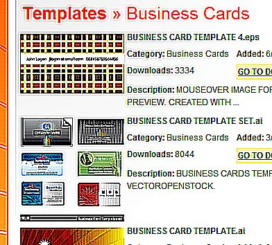 Printable Business Card Templates With Professional Art
