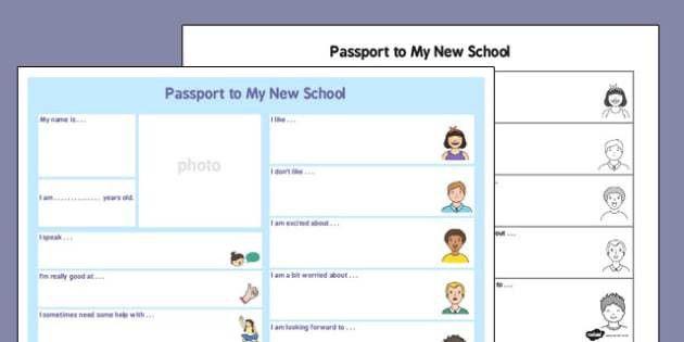 to a New School - passport, new school, new, school