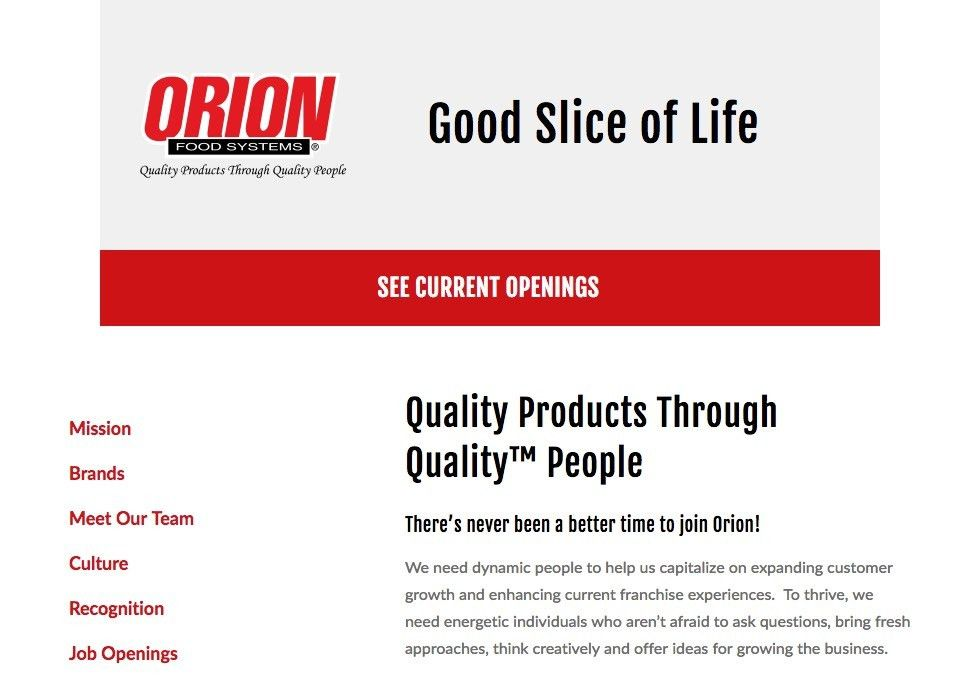 Bakery Production Tech - Night Shift - Sioux Falls, SD - Orion ...