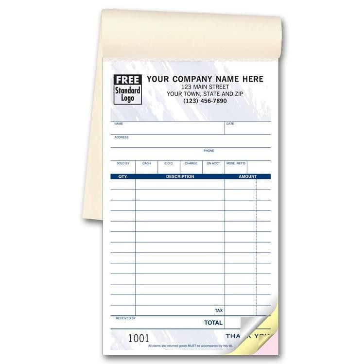 Sales Receipt Books - Custom Invoice | DesignsnPrint