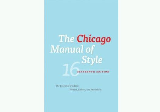 It's the 16th Ed. of the Chicago Manual of Style and I Feel Fine ...