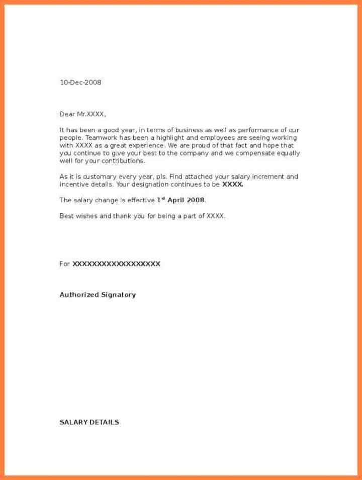 Amazing Salary Increase Recommendation Letter Images - Best Resume ...