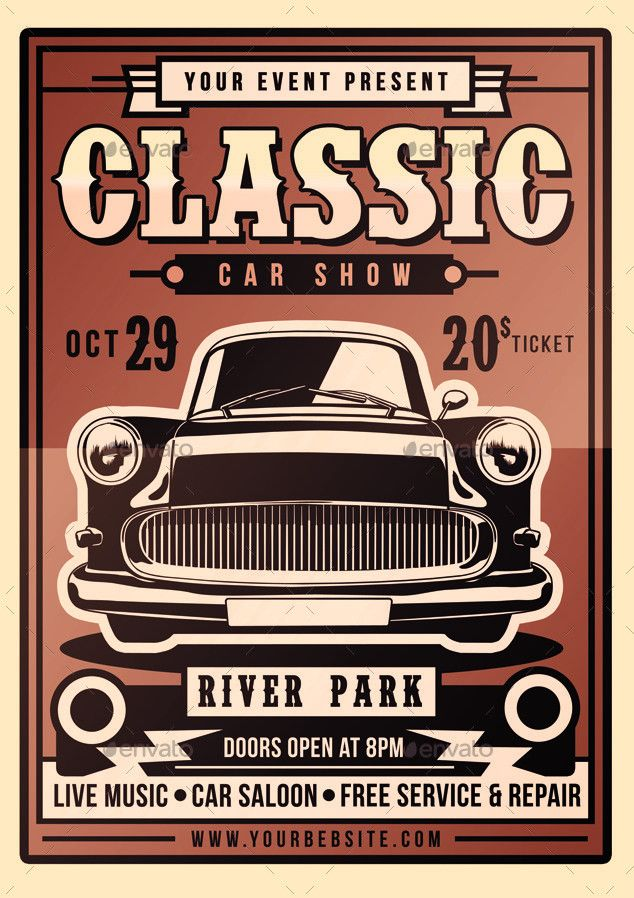 Classic Car Show Flyer by MuhamadIqbalhidayat2 | GraphicRiver