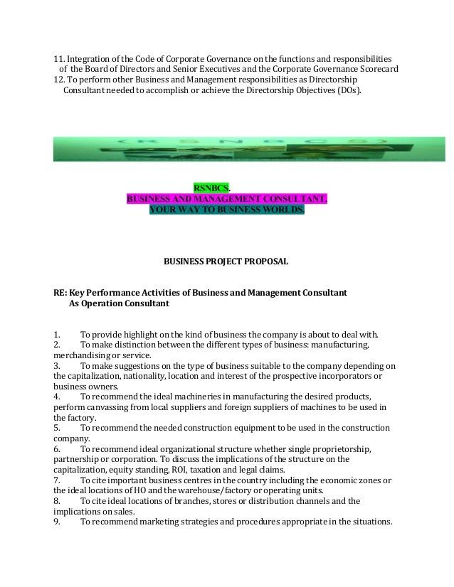 BUSINESS PROJECT PROPOSAL WITH APPOINTMENT - BUSINESS & MANAGEMENT CO…