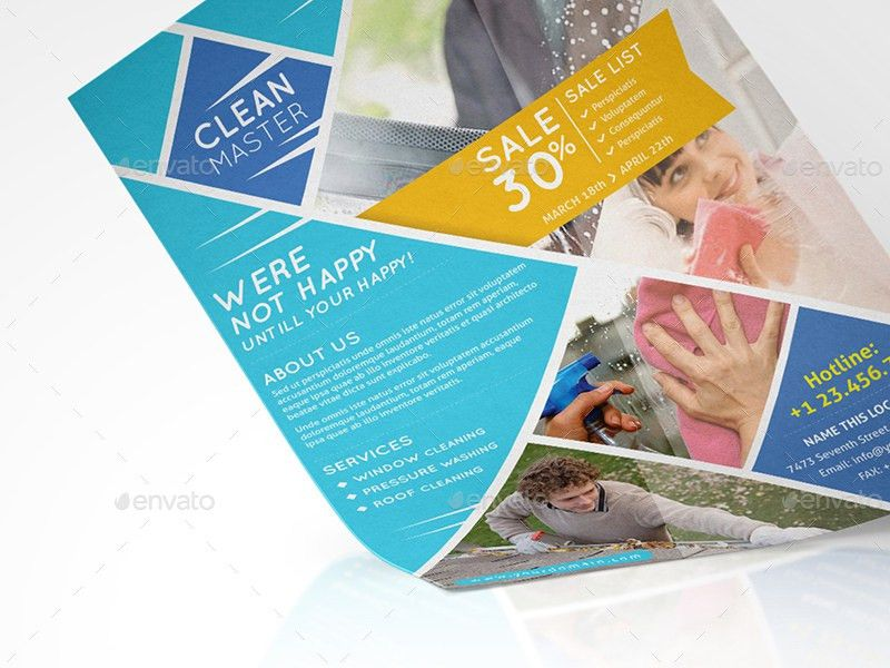 Window Cleaning & Pressure Washing/ Flyer Template by wutip2 ...