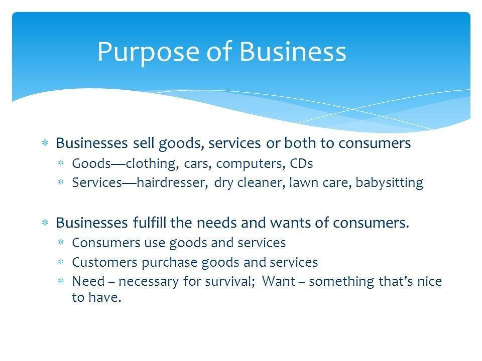 Understand the purpose and the functions of business Purpose and ...