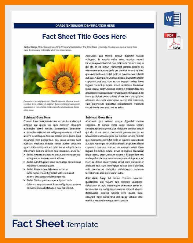 8+ fact sheet template word | biology resume