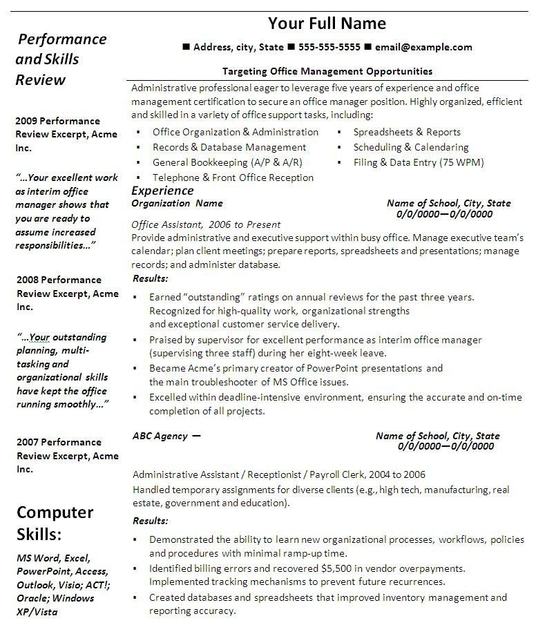 Free Microsoft Office Resume Templates. Resume Examples Great 10 ...