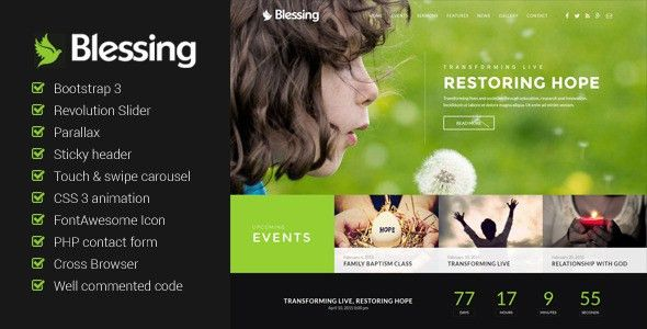 Blessing – church website template – Over millions vectors, stock ...