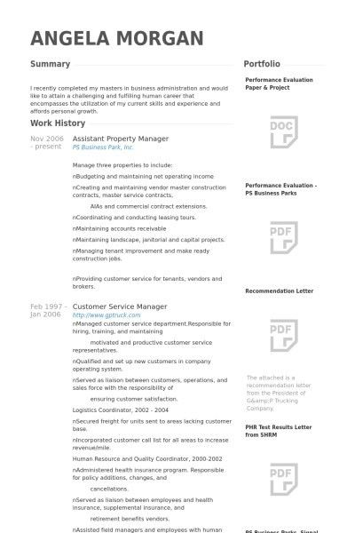 Property Manager Resume. Apartment Property Management Cover ...
