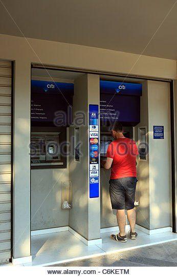 Atm Cash Machine Dispenser Stock Photos & Atm Cash Machine ...